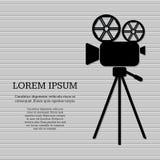 Icono de la cámara de película ilustración del vector