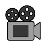 Icono de la cámara de vídeo de la película Imagen de archivo libre de regalías