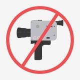 Icono de la cámara del cine stock de ilustración