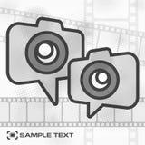 Icono de la cámara y tira de la película Foto de archivo libre de regalías