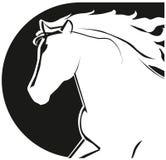 Icono de la cabeza de caballo Imágenes de archivo libres de regalías