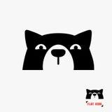 Icono de la cabeza de perro stock de ilustración