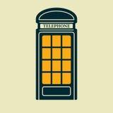 Icono de la cabina de teléfonos del vector EPS10 Fotografía de archivo