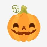 Icono de la calabaza de la diversión para Halloween Imagen de archivo libre de regalías