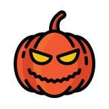 Icono de la calabaza de Halloween Imagenes de archivo