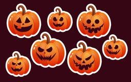 Icono de la calabaza de Halloween Ejemplo plano del vector del estilo Foto de archivo