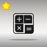 Icono de la calculadora, ejemplo del vector Estilo plano del diseño Imagen de archivo libre de regalías