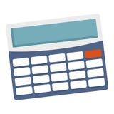 Icono de la calculadora de la oficina, estilo plano ilustración del vector