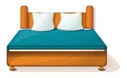 Icono de la cama gigante, estilo de la historieta libre illustration