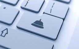 Icono de la campana de la recepción Imagen de archivo