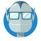 Icono de la cara del Bot de la charla Imágenes de archivo libres de regalías