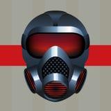 Icono de la careta antigás del Biohazard Imagen de archivo libre de regalías