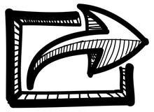 Icono de la carga por teletratamiento de la parte con la flecha Foto de archivo libre de regalías