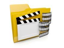 icono de la carpeta 3d con el vídeo Imágenes de archivo libres de regalías