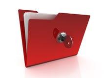 Icono de la carpeta con clave Imagen de archivo