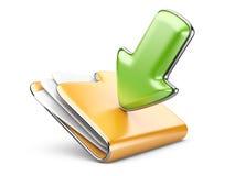 Icono de la carpeta 3d de la transferencia directa. Fotografía de archivo libre de regalías