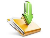 Icono de la carpeta 3d de la transferencia directa. Fotos de archivo libres de regalías