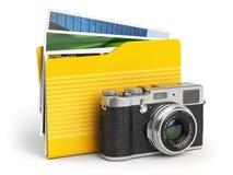 Icono de la carpeta de la PC del álbum de foto Cámara y carpeta de la foto encendido Fotos de archivo libres de regalías