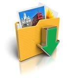 Icono de la carpeta de la transferencia directa Fotos de archivo