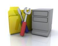 Icono de la carpeta del sistema Foto de archivo libre de regalías