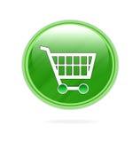 Icono de la carretilla de las compras Imagen de archivo