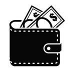 Icono de la cartera libre illustration