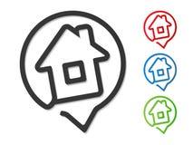 Icono de la casa Imagen de archivo libre de regalías
