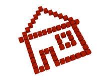 Icono de la casa Fotografía de archivo