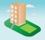 Icono de la casa de la ciudad Imagen de archivo