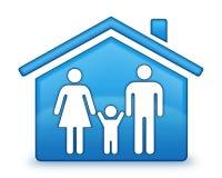 Icono de la casa de la familia Fotografía de archivo libre de regalías