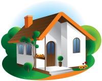 Icono de la casa del ejemplo del vector aislado ilustración del vector