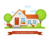 Icono de la casa del jardín del vector Fotos de archivo