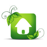 Icono de la casa del vector Imagen de archivo libre de regalías