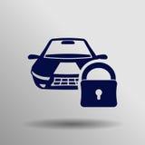 Icono de la cerradura del coche Imagen de archivo libre de regalías