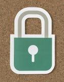 Icono de la cerradura de la seguridad de la seguridad de la privacidad foto de archivo libre de regalías