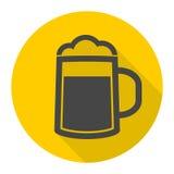 Icono de la cerveza Imagen de archivo