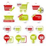 Icono de la cesta de compras stock de ilustración