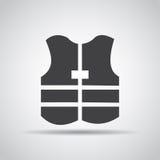 Icono de la chaqueta con la sombra en un fondo gris Ilustración del vector Fotografía de archivo libre de regalías