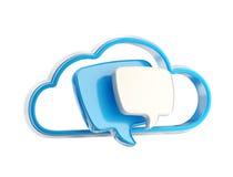 Icono de la charla de la parte de la conversación de la nube Fotografía de archivo