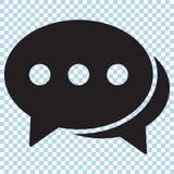 Icono de la charla, icono de los comentarios stock de ilustración