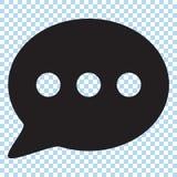 Icono de la charla, icono de los comentarios ilustración del vector