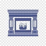 Icono de la chimenea Fotografía de archivo