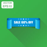 Icono de la cinta de la venta el 60% Venta del concepto del negocio etiqueta engomada del 60 por ciento Imágenes de archivo libres de regalías