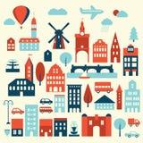 Icono de la ciudad de Europa Imágenes de archivo libres de regalías