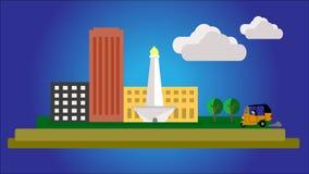 Icono de la ciudad de la metrópoli de Indonesia Imagenes de archivo