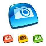 Icono de la cámara Fotos de archivo libres de regalías