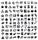 Icono de la cocina y de la comida Foto de archivo libre de regalías
