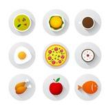 Icono de la comida Foto de archivo libre de regalías