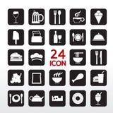 Icono de la comida y de la bebida. Imagen de archivo