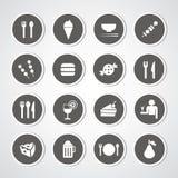 Icono de la comida y de la bebida Imágenes de archivo libres de regalías
